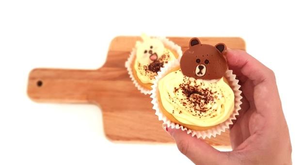 line-brown-cupcake