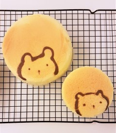 kawaii bear japanese cheesecake
