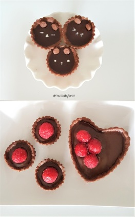 kawaii bear chocolate tarts
